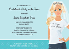 T-Shirt Blonde Bachelorette Invitations