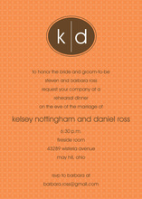 Monogram Chocolate Orange Invitations