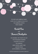 Pink Lanterns Charcoal Invitations