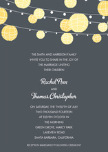 Yellow Lanterns Casual Charcoal Invitations