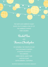 Yellow Lanterns Blue Invitations