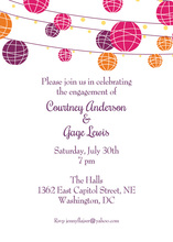 Colorful Lantern Invitations