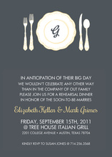 Monogram Place Setting Invitations