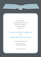 Blue Ribbon Charcoal Invitations