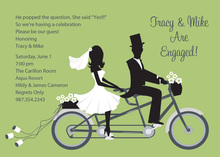 Bike Ride Couple Green Invitations