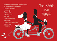 Bike Ride Pair Red Invitations