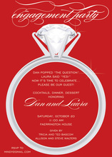 Wedding Solitaire Ring In Red Invitations
