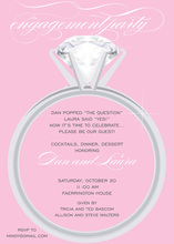 Solitaire Feminine Ring Invitations