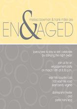Ampersand Engaged Yellow Grey Invitations