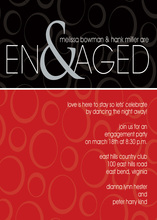 Ampersand Engaged Berry Black Invitations