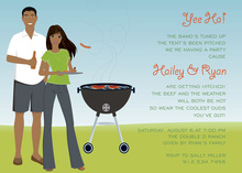 African American Cookout Party Invitations