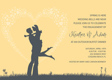 Silhouette Love Yellow Invitations