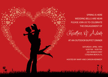 Silhouette Love Red Invitations