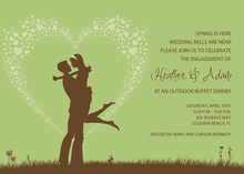 Silhouette Love Green Invitations