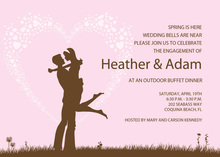 Silhouette Love Pink Invitations