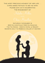 Proposal Silhouette Yellow Invitations