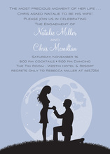 Proposal Silhouette Lavender Invitations