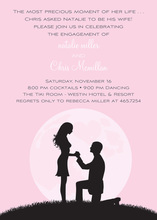 Proposal Silhouette Pink Engagement Invitations