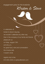 Lovely Birds Chocolate Invitations
