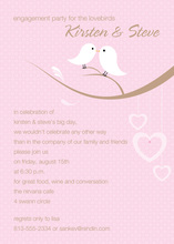 Lovely Birds Pink Invitations