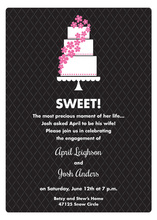 Sweet Cake Modern Black Invitations