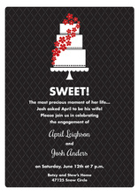 Sweet Cake Hot Holiday Red Invitations