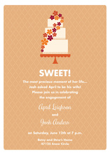 Sweet Cake Sassy Orange Invitations