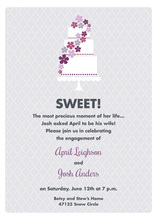 Trendy Sweet Cake Lavender Invitations