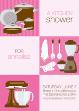 Chocolate Squares Kitchen Shower Invitations