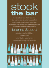 Bar Shelf Chocolate Bali Color Invitations
