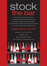 Bar Shelf Berry Black Invitations