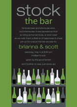 Bar Shelf Olive Black Invitations