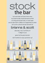 Bar Shelf Yellow Grey Invitations