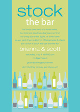 Bar Shelf Turquoise Lime Invitations