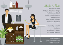 Bar Scene Asian Style Invitations