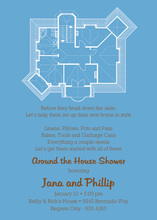 My House Plans Blue Invitations