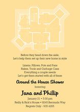 House Plans Yellow Invitations