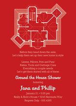 House Plans Red Invitations