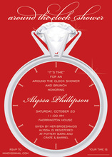 Solitaire Red Around The Clock Invitations