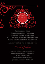 Hanging Clock Black Invitations