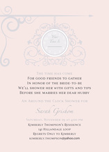 Hanging Clock Light Pink Invitations