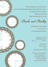 Faces of Time Bali Clock Shower Invitations