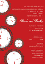 Faces of Time Berry Clock Shower Invitations