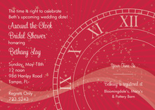 Tick Tock Berry Clock Invitations