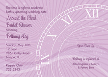Tick Tock Genie Clock Shower Invitations