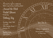 Tick Tock Chocolate Clock Shower Invitations