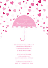 Forecasting Love Pink Invitations