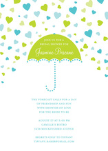 Forecasting Love Blue Green Invitations
