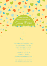Forecasting Love Yellow Invitations