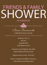 Princess Bridal Shower Pink Invitations